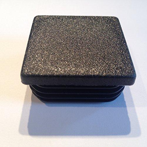 10 Stück Schutzkappe Lamellenstopfen 30x30, WS 1,2-3,0mm, Farbe (schwarz RAL 9005)