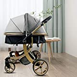 Mosquitera para Cochecito Bebe, Funda de red universal para cochecito de bebé con Cremallera, Lavable Durable Malla Fina, para capazo/silla de paseo/cuna de viaje (Gris)