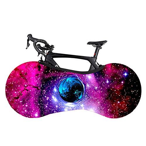 Xinzistar Fahrradabdeckung Fahrradschutzhülle Abdeckung, Wasserdicht Staubgeschützte Hohe Elastische Fahrrad Reifenpaket für Mountainbikes MTB (3D Sternenhimmel)