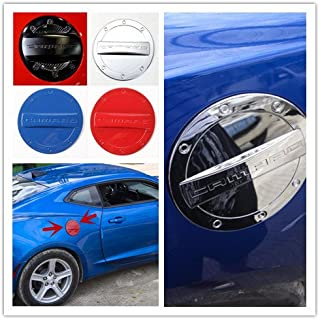 Highitem Newest Exterior Fuel Tank Cover Gas Lid Cap Accessories ABS For Chevrolet Camaro 2016 Up (Silver Chrome)