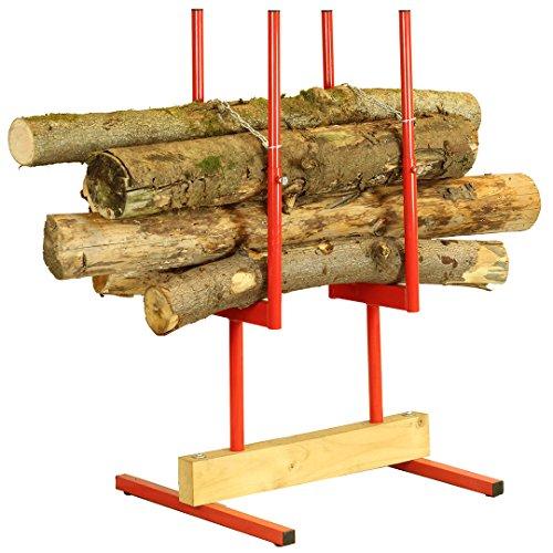 Forest Master, Cavalletto taglialegna, per segare tronchi multipli 2 (BLS2), Rosso