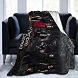 Comfortable Sofa Throw Blanket, The V-Ampire D-Iaries Soft Flannel Bed Blanket, Breathable Anti-Pilling Fuzzy Blanket for Fall Winter Living Room Bedroom Couch Sofa Office Picnic Decorative 50X40 in