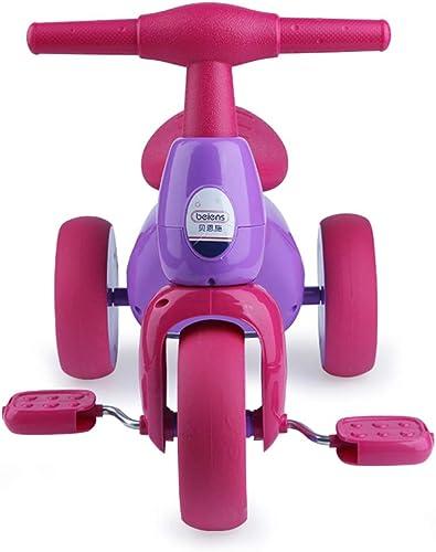 WeeLion Enfants Tricycle, vélo léger Garçon Fille Mousse Roue Poussette Jouet 1-3 Ans,rouge