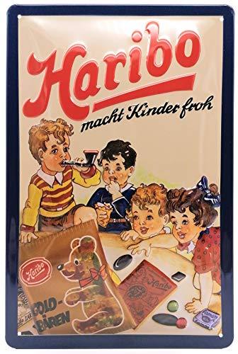 HARIBO Retro Blechschild Werbung Fruchtgummi Küche Reklame-Marke-Schild-Magnet-Metallschild-Werbeschild-Wandschild