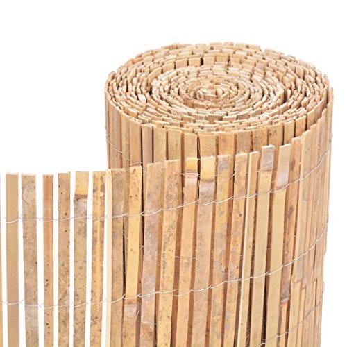 Festnight Bambus Dekorativer Gartenzaun Bambuszaun Gartendekor Zaun 1000 x 30 cm