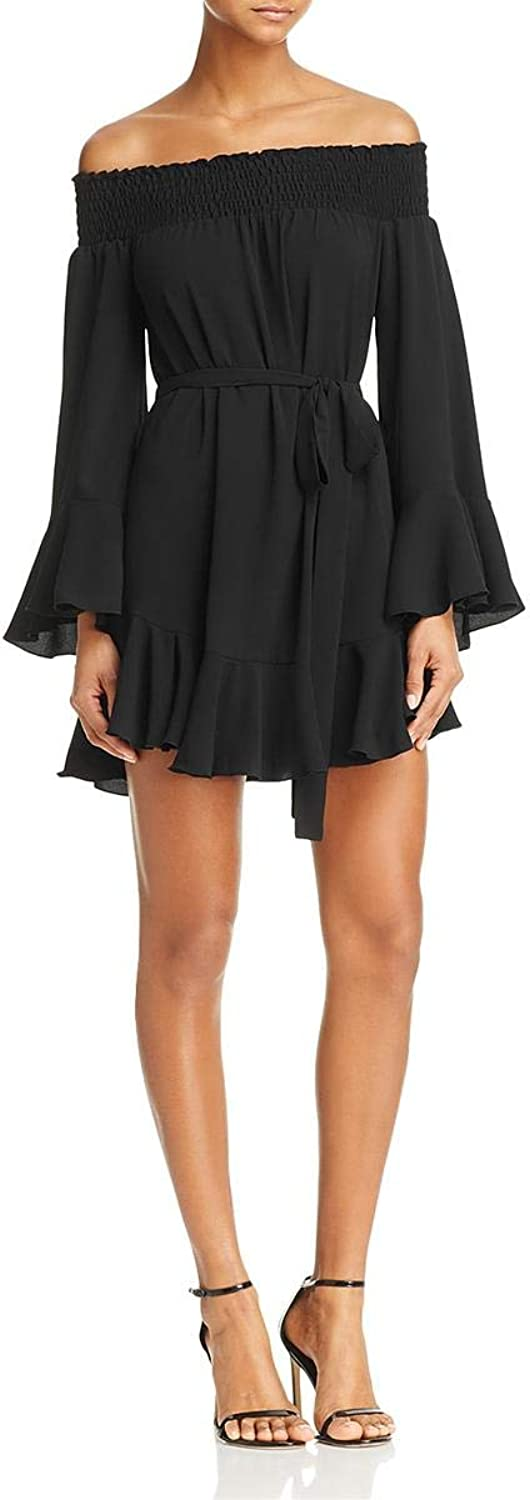 Nookie Womens Mykonos Off The Shoulder Mini Special Occasion Dress