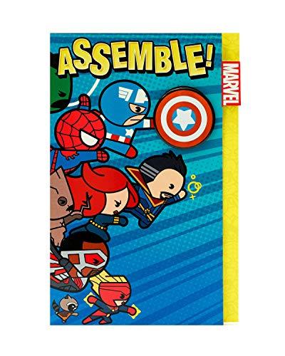 Marvel Birthday Card - Cute Superhero Birthday Card - Disney Marvel Kawaii - Avengers Birthday Card for Kids - Birthday Card for Boys - Avengers Birthday Gifts