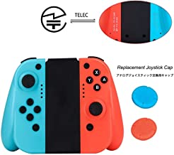 Joytorn Joy Pad Wireless Controllers for Nintendo Switch,Small Grip Switch Joycon Controllers Compatible with Nintendo Switch as a Joy Con Controller Replacement-Red/Blue