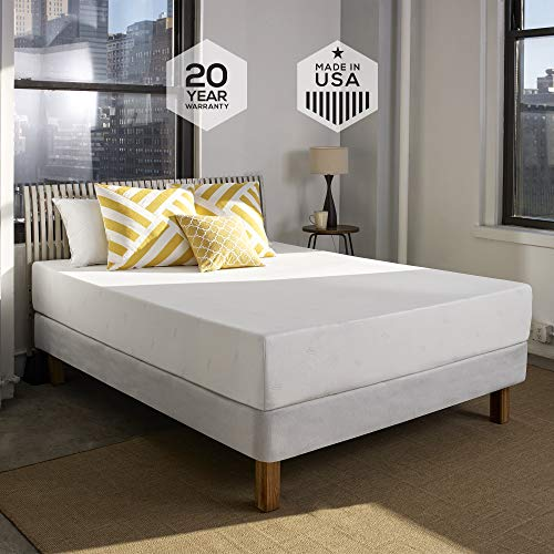 Sleep Innovations Shea 10-inch Memory Foam Mattress, Bed in a Box, Made in the USA, 20-Year Warranty - Queen Size