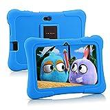 タブレットPRITOM 子供用タブレット 7インチHDディスプレイキッズタブレット目に優しい子供モードペアレンタルコントロール付きWIFI モデル16GB ROM Android10.0子どもプレゼント保護ケース付き(ライトブルー)