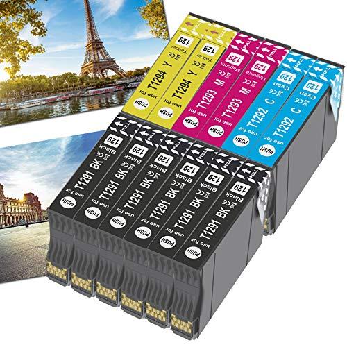 OGOUGUAN 12 T1295 - Cartuchos de tinta compatibles con Epson T1291 T1292 T1293 T1294 para Epson Workforce WF-3520 WF-7515 Stylus Stylus SX235W SX525WD SX535WD SX420W SX425W SX435W