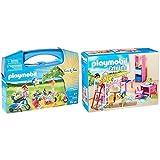 PLAYMOBIL - Family Fun Maletín Grande Picnic Familiar, Multicolor, Única (9103)+ City Life Habitación Infantil, A Partir De 4 Años (9270)