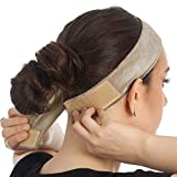 Wig Grip Headbands for Women,Adjustable Comfort Head Hair Band for Keeps Wig Secured,Prevents Headaches & Hair Loss (Beige)
