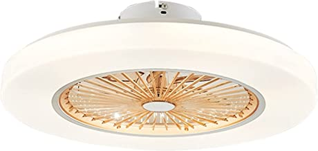 Kroonluchter plafondventilatorlamp, led-plafondlamp voor woonkamer, transparant ventilatorlicht, elektrische ventilator vo...