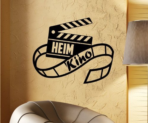Heimkino Kino Wandtattoo Wandaufkleber Kamera Wand Sticker Film Aufkleber 5S047, Farbe:Schwarz Matt;Breite vom Motiv:70 cm