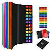 24 Pockets Expanding Poly Project Folders Organizer, A4-Size School File Project Organizer, Student Papers Folder Expanding Project Sorter Supplies