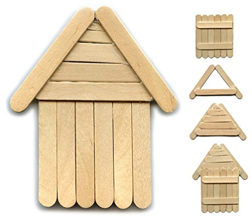 "Perfect Stix Craft PS63 Birchwood Straight Edge Mini Stick, 2-1/2"" Length (Pack of 1,000)"
