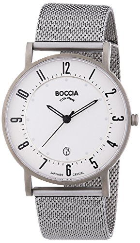 Boccia Herren-Armbanduhr XL Analog Quarz Titan 3533-04