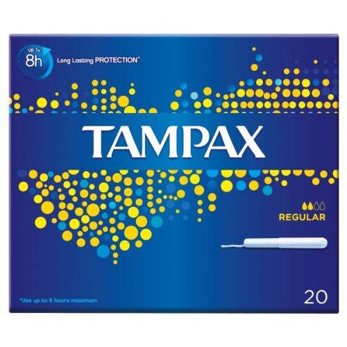 Tampax Kartonapplikator Regular 20 Tampons (8 x 20 Stück)