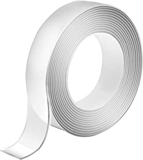 20FT Double Sided Tape for Walls,Heavy Duty,Mounting Tape-Nano Double Sided Tape Washable and Reusable-Wall Tape for Pictu...