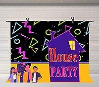 HD10x7ftハウスパーティーの背景バウンスハウスの誕生日パーティーの写真の背景ポートレート誕生日イベント部屋の壁画の写真BJLSFU37