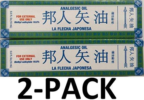 La Flecha Japonesa Analgesic Oil 0.5 Fl oz (15 Ml) 2-Pack