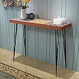 Festnight Mueble de Consola Mesa Materia de MDF + Acero para Salón Habitación 90 x 30 x 71,5 cm Color Marrón