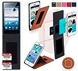 Hülle für Oppo Neo 5s Tasche Cover Case Bumper | Braun