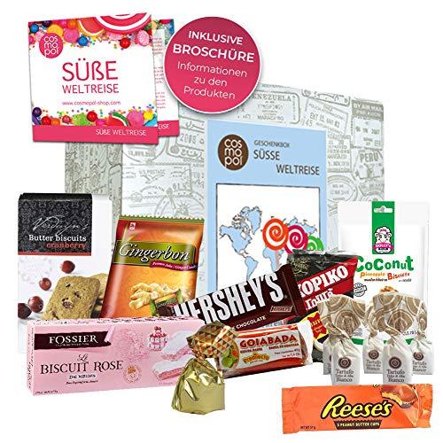 Besondere Süßigkeiten Box Süße Weltreise | Süßigkeiten Mix mit verschiedenen Süßigkeiten aus aller Welt | Süßes zu Weihnachten Süßigkeiten aus Amerika