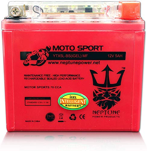 Neptune Power GEL Ytx5l-bs Gtx5l-bs ATV Battery for Polaris Predator Outlaw Sportsman Trx 50 80 90 Kfx Ksf KTM EXC Xc Sx
