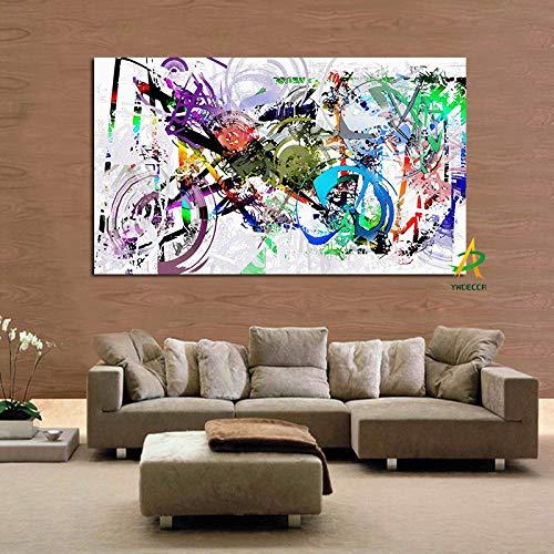 tzxdbh Graffiti Street Wall Pop Art Creatieve Fiets Canvas Schilderen HD Print op Canvas Wandfoto voor Woonkamer Cuadros Decoratie-in 60 x90 cm Unframed