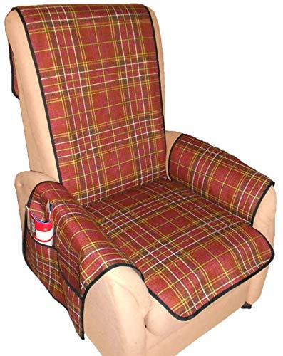 Holzdrehteile Sesselschoner Sesselauflage Sesselbezug Schoner Überwurf Auflage Karo