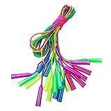 Toyvian 10 cuerdas de salto ajustables para niños (colores aleatorios)