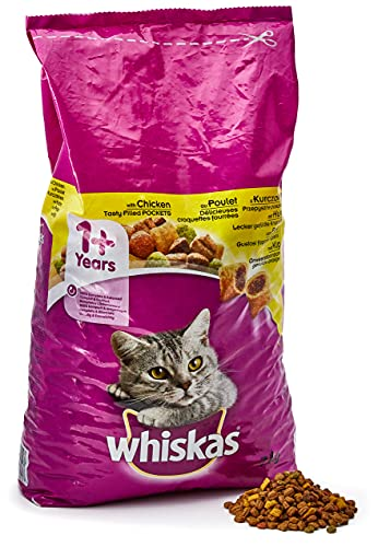 Whiskas Sucha Karma z Kurczakiem dla Kotów Dorosłych (1 x 7 kg)