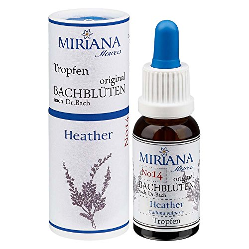 MirianaFlowers Heather 20ml Bachblüten Stockbottle