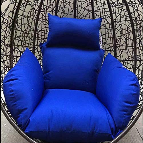 chair Swing Cushion,Hanging Egg Hammock Cushions, Breathable Swing Seat Cushion Thick Nest Pillow Pp Cotton Fillimg for Garden Patio-White,Colour:Red (Color : Blue)