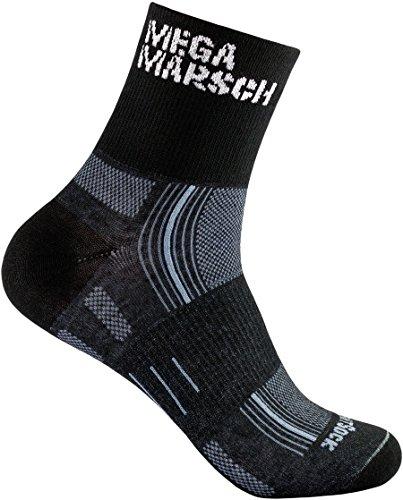 MEGAMARSCH WrightSock Editions-Modell, Profi Sportsocke, Wandersocke, Laufsocke, Anti-Blasen-System, doppel-lagig, atmungsaktiv, schweißabsorbierend, mittellang (34-37)
