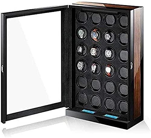 YUNLILI Cajas de Relojes de Reloj para Hombre Shaker Caja mecánica Reloj de relojería de Bobina automática Winder Gire la Caja de Almacenamiento de Mesa