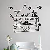 L-Peach Stickers Muraux Élégant Proverbes Anglais 'Welcome Sweet Home' Vinyle...