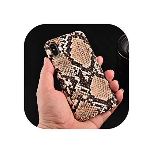 Funda para iPhone XS MAX XR 11 Pro MAX X con Textura de Madera de Serpiente para iPhone 7 8 6 6S Plus Piel sintética Suave
