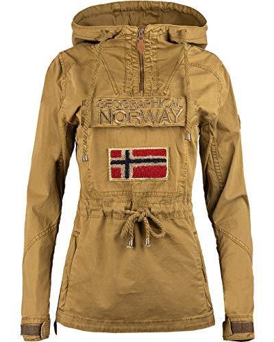 Geographical Norway Chaqueta cortavientos para mujer., caqui, M