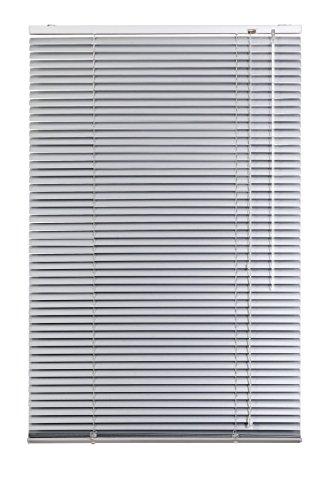 Lichtblick Jalousie Aluminium, 60 cm x 220 cm (B x L) in Silber, Sonnen- & Sichtschutz, Aber auch Verdunkelungs-Rollo, für Fenster & Türen