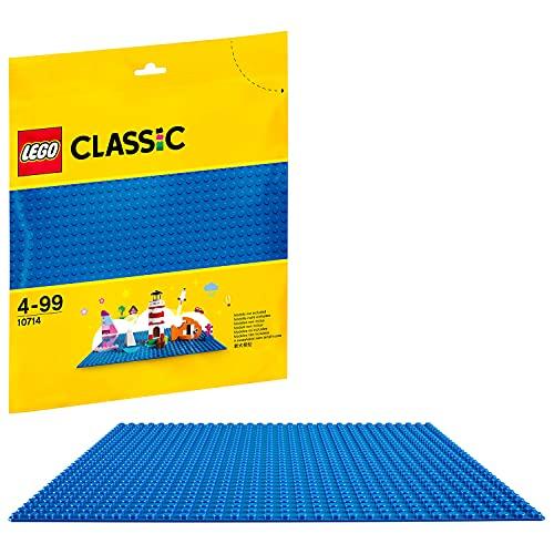 LEGO 10714 Classic Blaue Bauplatte, 25 cm x 25 cm, Lernspielzeug, kreatives Spielen
