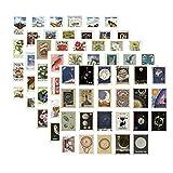 Swetup 230 pegatinas vintage para scrapbooking Stickers decoración papel pegatinas vintage sellos para cuaderno diario álbum revistas DIY Arts and Craft 40 mm x 30 mm