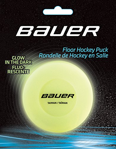 BAUER HOCKEY FLOOR PUCK GLOW IN THE DARK , Größe:Unisize