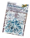 folia 12530 - Bastelset für 5 Perlensterne, blau / silber / perlweiß - ideal als selbstgemachte...