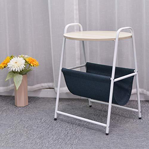 JIE Moderne minimalistisch klein bureau, eenvoudige kleine salontafel, rond nachtkastje met slaapkamer, mobiele theetafel