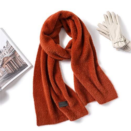 MYTJG Lady sjaal Winter Dames Sjaal Mode Effen Kleur Dikke Lange Kunstmatige Bont Dames Sjaal Warm Neck Ring Sjaal