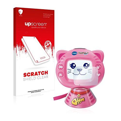 upscreen Schutzfolie kompatibel mit Vtech KidiPet Touch 2 (Katze) – Kristallklar, Kratzschutz, Anti-Fingerprint