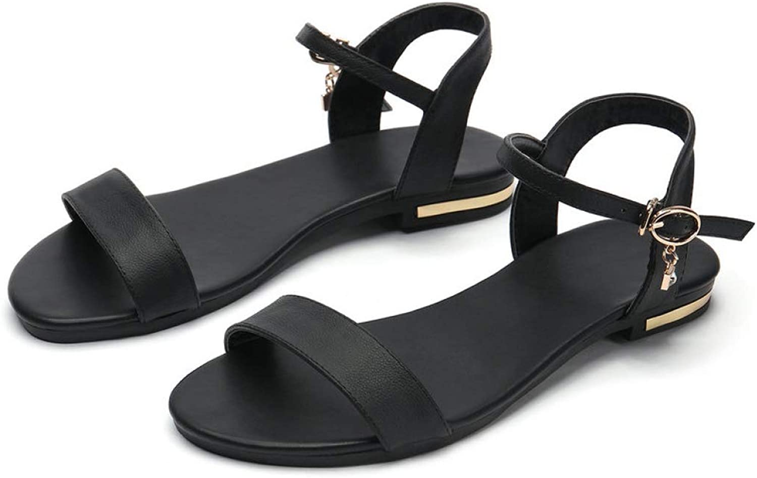 Women's Sandal Open Toe Cow Leather Low Heel Summer Ladies Fashion Breathable Casual shoes